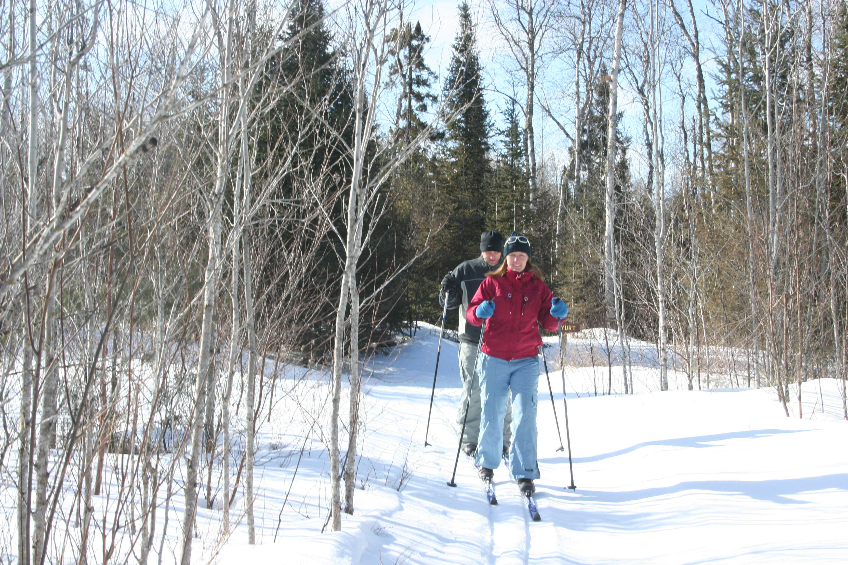 April 1, 2013- skiing the Banadad Trails