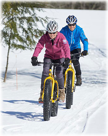 Fat tire snow biking