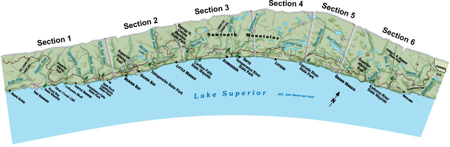 Superior Hiking Trail Map