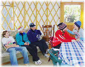 Yurt and ski team