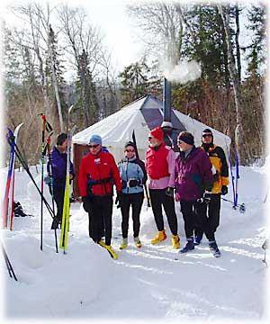 Chicago Ski Group at Croft Yurt